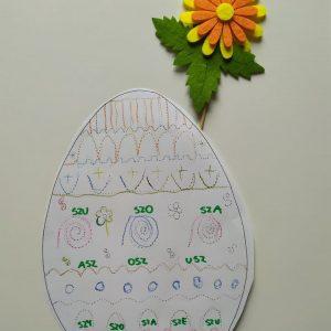 jajko logopedyczne - pomoce w grafomotoryce