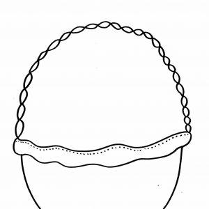 rysunek koszyczka wielkanocnego do uzupełnienia