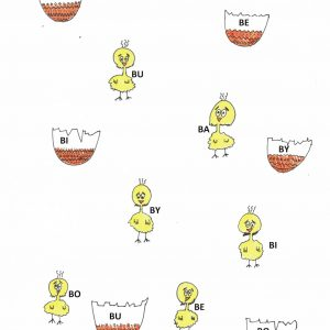 rysunki kurczaczków i skorupek jaj