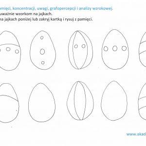 jajka z kropkami do pokolorowania